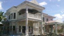 ROMAN PILLAR AND NEW BUILDING MATERIAL