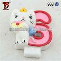 Cera de parafina lindo gato parte decorativa número/dígitos velas
