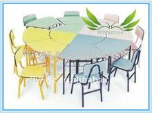 Guangzhou Flyfashion children furniture/ round child kids study desk and chair set
