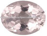 Soft Pink Morganite Oval Cut Gemstone