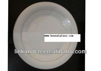 KC-00487 ceramic divided plate shining golden circle
