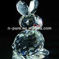 coelho em forma de cristal barato figuras de animais