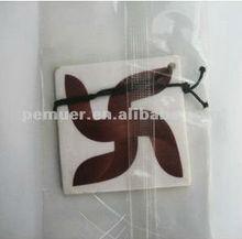 Custom hanging paper car air freshener auto air freshener with coastal scents