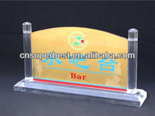 China Plant OEM/ODM Clear Acrylic Indicator Sign