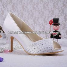 Pure White Stiletto Wedding Shoes Party 2013 Wholesale