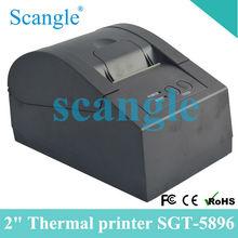 Black Printer 2 inch Mini Printer 100 mm/sec High Printing Speed Printer