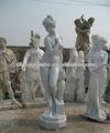 piedra señora desnudo escultura