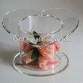 Tube forme acrylique gâteau présentoir pour le mariage