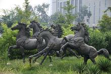 Large Modern cast Bronze Horse Sculptures