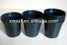 19cm Height round soft plastic black plant pot