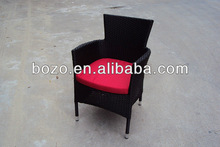 Cheap outdoor plastic stacking chair with cushion