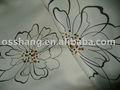 o tecido blackout de desenho de flores para a cortina
