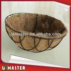 Coconut hanging basket,Coconut Fiber Hanging Basket With Coco Liner