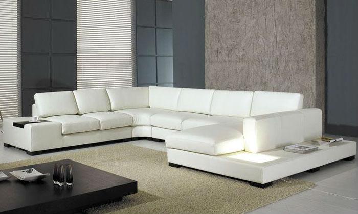 Buat Testing Doang Modern Corner Leather Sofas