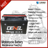 three wheel motorcycle parts / battery for motorcycle 12V 9AH (YTX9-BS)