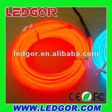 high light intensity 3.3mm EL wire Red