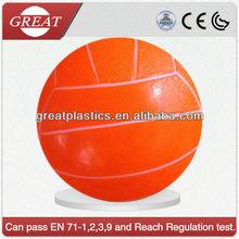 PVC transparent neon volley ball for beach glow beach ball