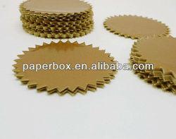 gold shiny color foil sticker envelope seal
