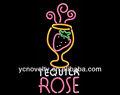 Tequila rosa signo de neón/colorido letrero de neón