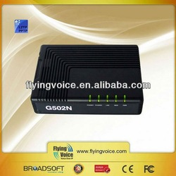 Flyingvoice G502N voip IP mini ATA 2FXS low cost rj45 wireless network adapter