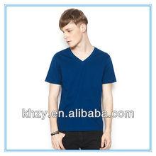 2013 lastest 100%cotton beautiful V neck men t shirt for sales