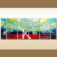 Hot Sell Modern Wall Art Metal Painting Of Tree