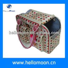 pet carrier bag polka dot design