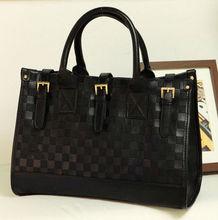 2013 wholesale cheap pu leather handbag, black bags for women