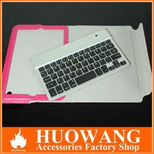 wireless bluetooth detachable keyboard leather case for ipad mini