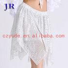 Dance skirt sequin dance skirt Girls in short skirts Q-6013#