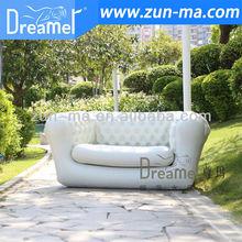 Cheap latest design inflatable living room white sofa