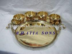 Brass Thali set BSATS-7