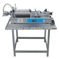 Guangzhou 100-1000ml GVT pneumatic semi auto vegetable oil shower gel dishwashing filling machine with table