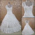 Jj3077 mangas vestido de baile querida Lace vestidos de noiva tamanho grande