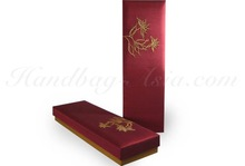 Embroidered red silk gift box for chopstick gift set + spa gift sets