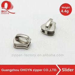 4.4g silver zipper non lock slider head for bag