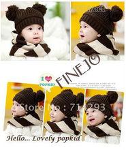 New Fashion Baby Dual Ball Girls/Boys Wool Cap Hat 7365