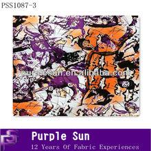 camouflage silk fabric printed designs