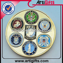 Newest design gold plated cheap metal coins