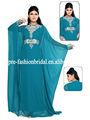 El último azul kaftan, de lujo de cuentas abaya, chiffion dubai vestidodenoche 2013