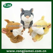 Takara Tomy Mimicry Speak Talking Record Hamster Mouse Plush Kids Toy Grey