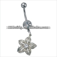 stainless steel casting belly button rings