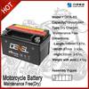 LIYANG DENEL brand 12V 7AH motorbike batteries with maintenance free