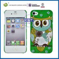 Cute Elegant Owl Faceplate Case Phone Cover Skin for iPhone 4 4S 4G