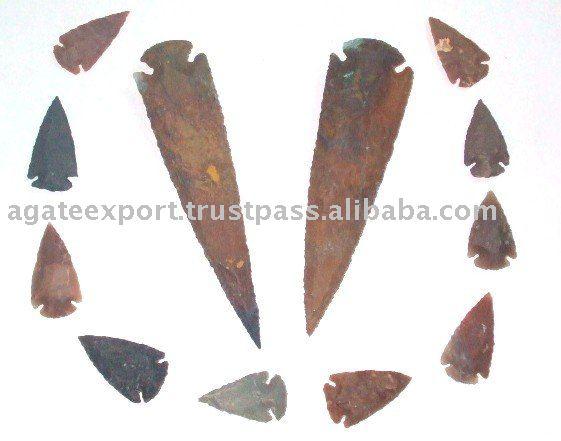 Pointe de flèche en bronze: pointes de flèches de tir: agate arrowheads