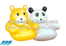 air animal chair, child small sofa with animal shape,inflatable bear sofa for kids