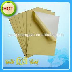 0.5mm white self adhesive pvc sheet for photo album