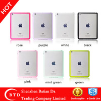 TPU+PC clear case cover for ipad mini retina/ipad mini2
