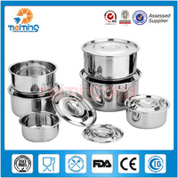 5pcs wholesale stainless steel food container, foldable storage box