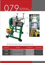 KT Stainless Steel Sugar Cane Machine